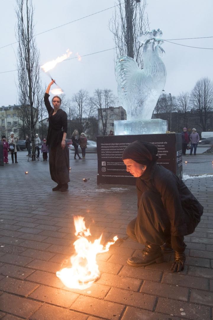 b996df7a855 FOTOD! Tallinnas avati heategevusliku eesmärgiga jääskulptuur - Tallinn