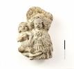 Maarja lapsega, 15. saj II pool, 16. sajandi algus. Sõltuvalt motiividest võis valgest savist figuuride kasutamine olla väga erinev, kuid kõige tavalisemad on mänguasjad ning koduses miljöös usutoiminguteks mõeldud kujud.jpg