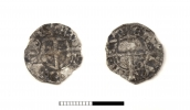 Liivi ordumeister Bernd von der Borch, Tallinna killing (1471-1483). Jahu tänava kaevamistelt on tulnud arvukalt Tallinna münte, kuid nende kõrval ka Tartu ja Novgorodi vääringuid.jpg