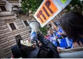 Soomes avaldasid sajad inimesed meelt kaubanduslepingu vastu