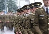 Kõrgem sõjakool tähistas õppeaasta algust jalutuskäiguga