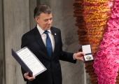 Colombia president võttis vastu Nobeli rahupreemia