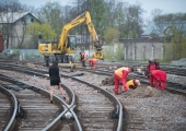 Veeavarii järgsete taastamistööde tõttu on suletud liiklus Telliskivi tänava raudteeülesõidu lähistel