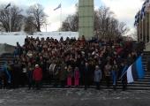 VIDEO! Tallinna Reaalkool mälestas Eesti Ajutise Valitsuse istungit
