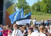 """VIDEO JA FOTOD: Tallinna õpilased kinkisid Eestile ühislaulmise """"Meie siin"""""""