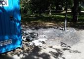 Vandaalid põletasid Kesklinnas maha mitu WC-d