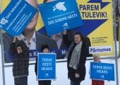 Vabaerakonna protestirongkäik taunib erakondade reklaamikampaaniaid