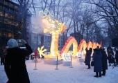 FOTOD! 40-MEETRINE DRAAKON JA PANDAD: Kaarli puiesteel saab näha Hiina valgusskulptuure