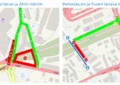 Reisisadama ja Russalka juures muutus liikluskorraldus