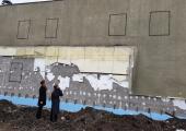 Algasid Nõmme kultuurikeskuse juurdeehituse seina renoveerimistööd