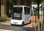 Tallinnas Ülemiste Citys põrkasid kokku sõiduauto ja isesõitev buss