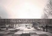 Sisekaitseakadeemia ja Tartu ülikooli Narva hoone ette kerkib hiigelpadi