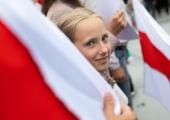 GALERII! Vabaduse väljakul toimus meeleavaldus valgevenelaste toetuseks