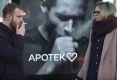 VIDEO! Reklaamplakat hakkab köhima, kui suitsetaja sellest möödub