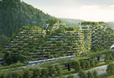 """GALERII! Hiinas alustati maailma esimese """"metsalinna"""" ehitust"""