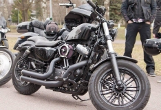 FOTOD! Harley Davidsoni klubi näitab linnarahvale tsikleid