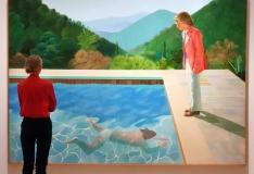 David Hockney basseinipilt purustas elava kunstniku oksjonirekordi