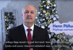 VIDEO! Riigikogu esimees: soovin, et jõulurõõm leiaks oma tee igaühe hinge