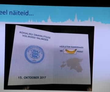 FOTOD: Tallinlased hääletasid nii banaani kui ka Putini poolt