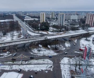Alates 17. jaanuarist muutub Haabersti ristmiku liikluskorraldus