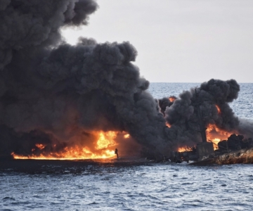 Hiina rannikul uppunud tankeri leke on kolmekordistunud
