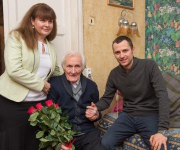 FOTOD! 100AASTANE VLADIMIR FUNK: On rõõm olla Eesti riigi eakaaslane