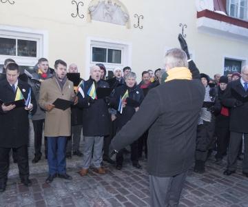 VIDEO JA FOTOD! Valitsuse liikmed laulsid Leedu 100. aastapäeva puhul hümni