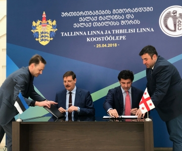 Tallinna ja Tbilisi linnapead sõlmisid koostööleppe kahe pealinna vahel