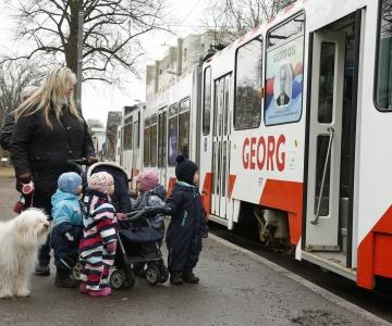 VIDEO JA FOTOD: Georg Ots sai omanimelise trammi