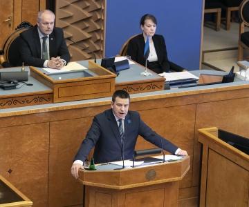 VIDEO! Riigikogult volitused saanud Ratas: soovin seista tugeva Eesti eest, mis on naeratav ja positiivne