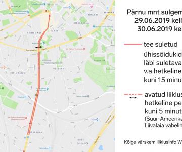 VAATA PLAANI! Kahe nädala pärast Pärnu maanteel algavad Hollywoodi filmivõtted sulgevad liikluse