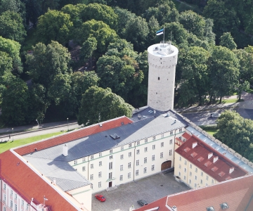 VAATA OTSE SIIT KELL 17: Toompea lossi rõdul esinevad Ott Lepland ja Rein Rannap