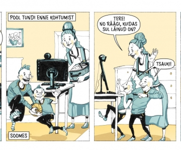 VAATA VIDEOT! Vabamu avas täna noorte aruteluga koomiksinäituse Soomes elavatest eestlastest