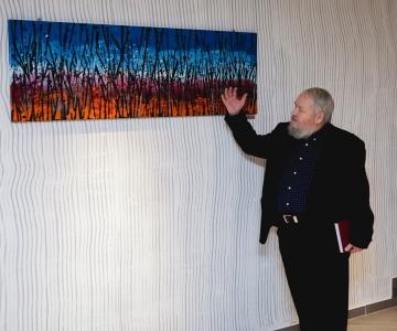 Kunstnik Leonhard Lapin pühendas näitleja Lembit Ulfsakile maali