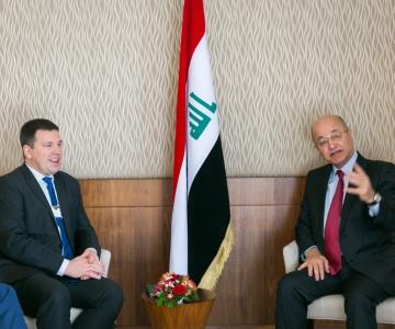 Ratas Iraagi presidendile: Eesti on valmis Iraaki aitama
