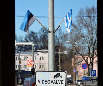 Pidurüüs Tulika tänav ja Nõmme tee on kaunistatud lippudega