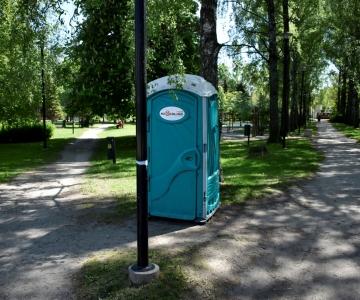 Löwenruh` ja Räägu parki paigaldati ajutised välitualetid