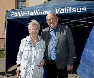 FOTOD! Põhja-Tallinna valitsus alustas vastuvõttudega vabas õhus
