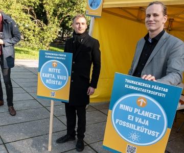 Tuumajaamade pooldajad korraldasid Tallinnas ja Tartus meeleavalduse
