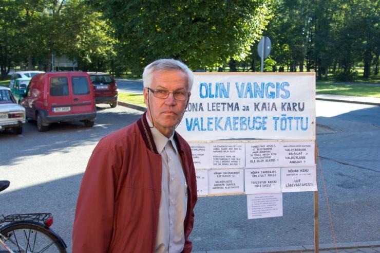 Olev Tomson korraldab meeleavalduse politsei- ja justiitsasutustes vohava võimu kuritarvitamise vastu