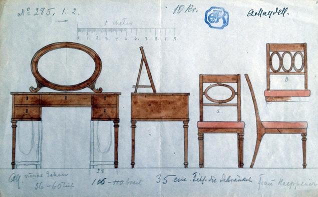Disainimuuseumis saab näha von Maydelli mööblikavandeid