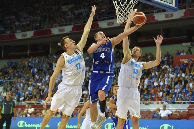Eesti korvpallikoondis võitis EM-il Ukrainat