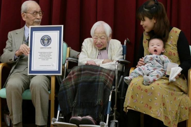 Jaapani 100-aastaste elanike arv ületas 60 000