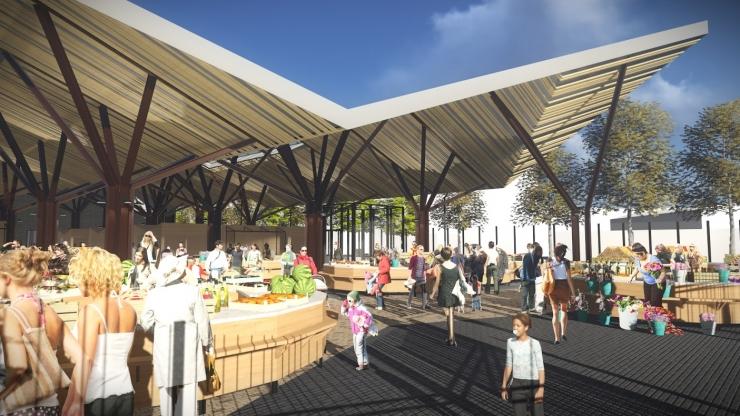 Fotod! Uus Balti jaama turg meelitab ostjaid terrassikohvikusse ja klubivagunisse