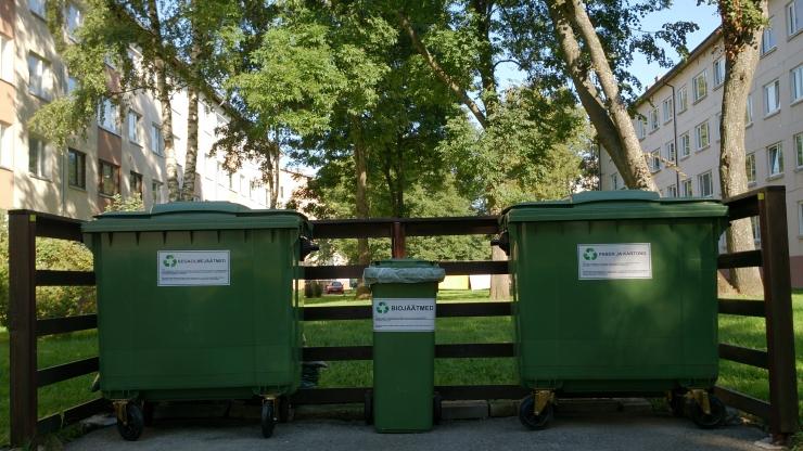 Kesklinnas rakendub korraldatud jäätmevedu