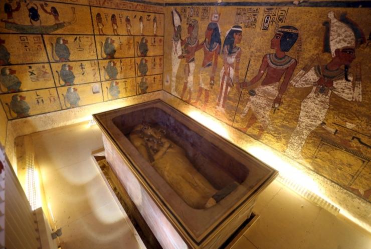 Radaripilt näitab peidetud ruume Tutanhamoni hauakambris