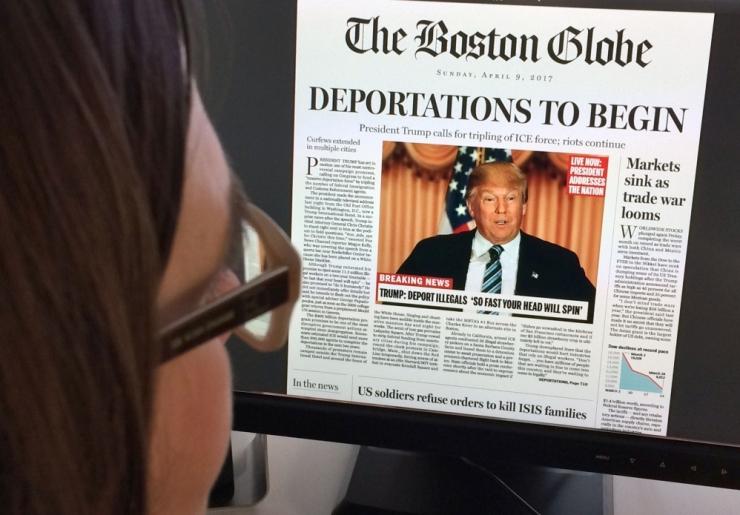 """USA ajaleht avaldas Trumpi vastu suunatud """"esikülje"""""""