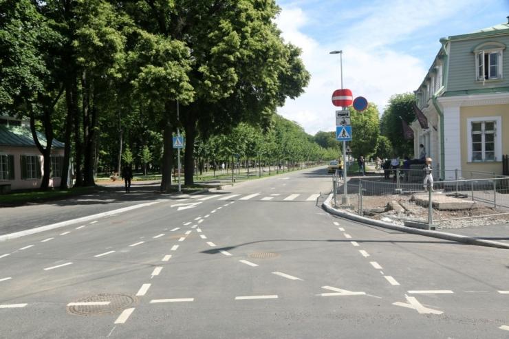Täna avati rekonstrueeritud A. Weizenbergi tänav
