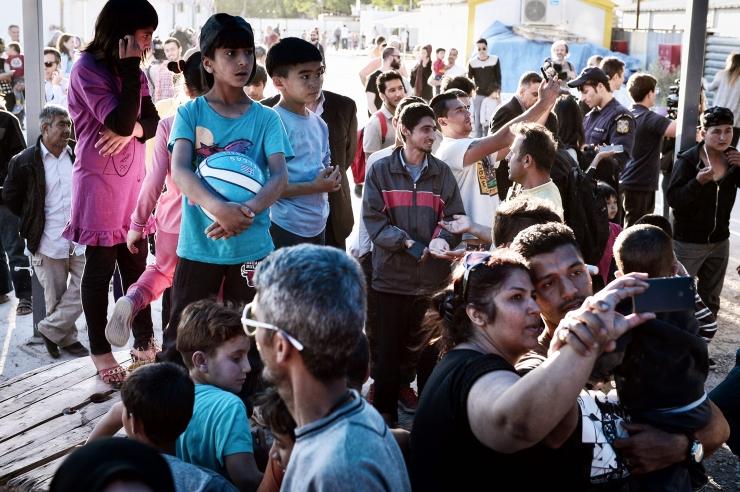 Süüria põgenikud avaldasid Kreekas Vene konsulaadi ees meelt