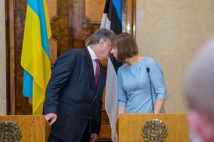 FOTOD ja VIDEO! Kaljulaidi sõnul peab Ukraina saama ise oma saatuse üle otsustada